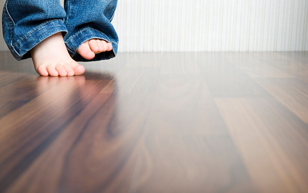 Soft yet hard-wearing varnished wooden flooring